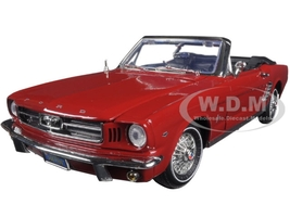 1964 1/2 Ford Mustang Convertible Red 1/18 Diecast Model Car Motormax 73145