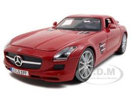 2011 Mercedes SLS AMG Gullwing Red 1/18 Diecast Model Car Maisto 36196
