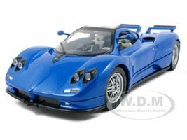 Pagani Zonda C12 Blue 1/24 Diecast Model Car Motormax 73272
