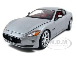 2008 Maserati Gran Turismo Silver/Gray 1/24 Diecast Car Model Bburago 22107