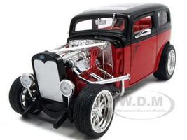 1931 Ford Model A Custom Red/Black Custom 1/18 Diecast Model Car Road Signature 92849