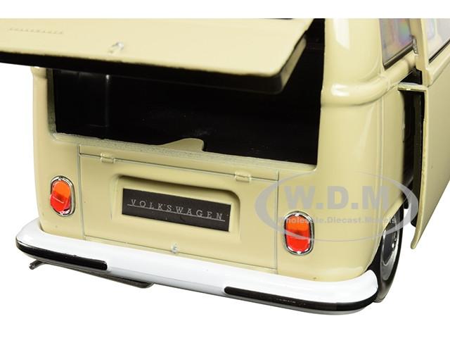 1972 VOLKSWAGEN T2 BUS VAN CREAM 1//24 DIECAST MODEL BY WELLY 22472