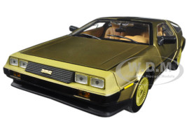 1981 De Lorean DMC 12 Coupe Gold Edition 1/18 Diecast Model Car Sunstar 2702