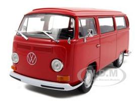 1972 Volkswagen Bus Van T2 Red 1/24 1/27 Diecast Model Welly 22472