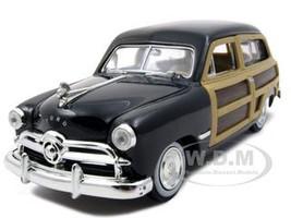 1949 Ford Woody Wagon Black 1/24 Diecast Model Car Motormax 73260