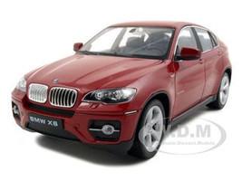2011 2012 BMW X6 Red Diecast Car Model 1/24 Welly 24004