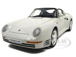 Porsche 959 White 1/18 Diecast Model Car Autoart 78083