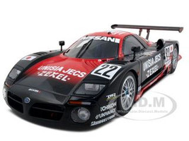 Nissan R390 GT1 #22 R. Patrese E. van de Poele A. Suzuki Unisia Jecs Le Mans 1997 Signature Series 1/18 Diecast Model Car Autoart 89777
