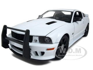 2007 Saleen S281 E Mustang Unmarked Police Car White 1/18 Diecast Car Model Welly 1256