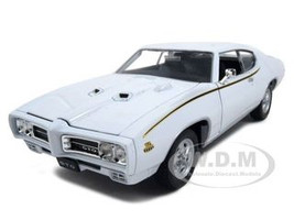 1969 Pontiac GTO Judge White Diecast Car Model 1/24 Welly 22501