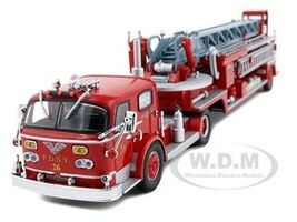 American LaFrance 900 TDA Red New York City Fire Department FDNY Ladder 26 Limited Edition 3000 pieces Worldwide 1/64 Diecast Model Code 3 13049