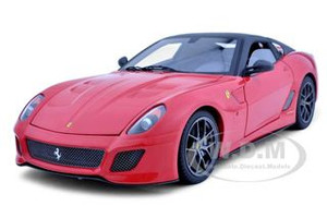 2011 Ferrari 599 GTO Red Elite Edition 1/18 Diecast Car Model Hotwheels T6925