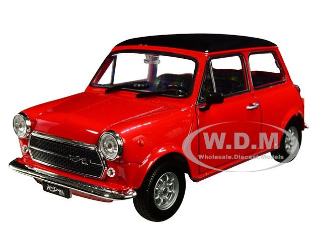 Mini Cooper 1300 Red Black Top 1/24 1/27 Diecast Model Car Welly 22496