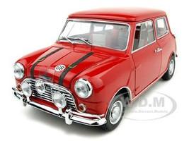 Austin MK1 Mini Cooper S Red 50th Anniversary Diecast Car Model 1/18 by Kyosho