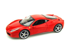 2011 Ferrari 458 Italia Red Diecast Car Model 1/18 by Hotwheels