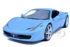 2011 Ferrari 458 Italia Blue 1/18 Diecast Car Model Hotwheels T6919