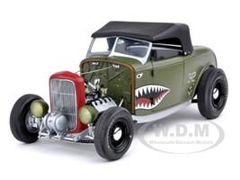 1932 Ford Deuce Highboy Aero Rod Olive Drab 1/18 Diecast Car Model GMP G1805022