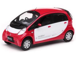 Mitsubishi i Miev White/Red 1/43 Diecast Model Car Vitesse 29282