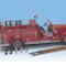 1935 Mack Type 75BX Fire Truck Red 1/24 Diecast Model Car Road Signature 20098