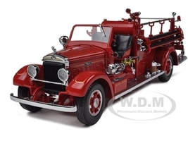 1935 Mack Type 75BX Fire Truck Red 1/24 Diecast Model Car Road Signature 20098