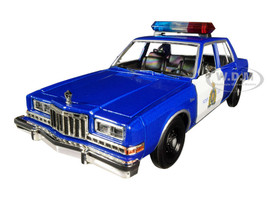 1986 Dodge Diplomat Royal Canadian Mounted Police Metallic Blue White 1/24 Diecast Model Car Motormax 76484