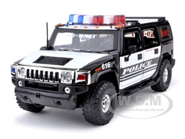 Hummer H2 High Profile Police K-9 Unit 1/24 Diecast Car Model Jada 53549