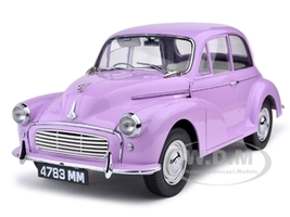 1960 Morris Minor 1000 Saloon Millionth Lilac/Pink 1/12 Diecast Car Model Sunstar 4783