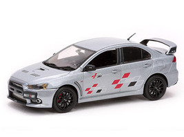 Mitsubishi Lancer Evolution X 10 Ralliart Brilliant Silver 1/43 Diecast Car Model Vitesse 29249