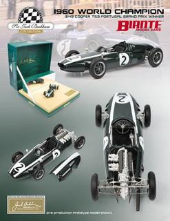 Cooper T53 Sir Jack Brabham 1960 GP Portugal Winner 1/43 Diecast Car Model Biante