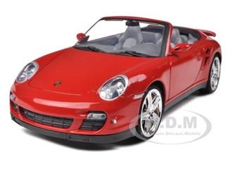 Porsche 911 997 Turbo Cabrio Schwarz 2004-2012 1//18 Motormax Modellauto Modell A