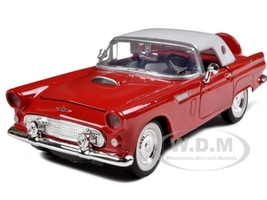 1956 Ford Thunderbird Red 1/24 Diecast Car Model Motormax 73312