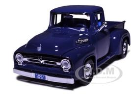 1956 Ford F-100 Pickup Blue 1/24 Diecast Model Car Motormax 73235