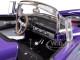 1956 Ford Thunderbird Street Rod Purple 1/24 Diecast Model Car Unique Replicas 18512