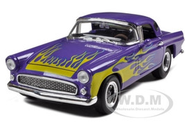 1956 Ford Thunderbird Street Rod Purple 1/24 Diecast Model Car Unique Replicas 18512