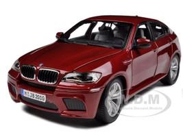 2011 2012 BMW X6M Dark Red 1/18 Diecast Car Model Bburago 12081