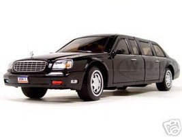 2001 Cadillac Deville Presidential Limousine Black 1/24 Diecast Car Model Road Signature 24018