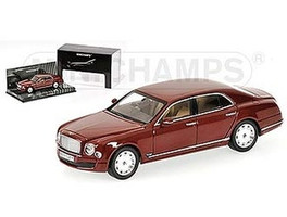 Bentley Mulsanne Burgundy 1 of 2016 Produced Worldwide 1/43 Diecast Model Car by Minichamps