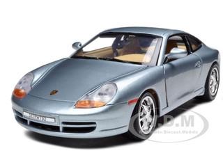 Porsche 911 Carrera Grey 1/18 Diecast Model Car Motormax 73101