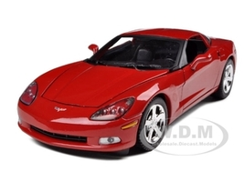 2005 Chevrolet Corvette C6 Coupe Red 1/24 Diecast Model Car Motormax 73270