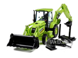 Komatsu WB146 Backhoe Loader with Attachments 1/50 by First Gear