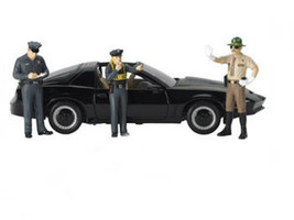 Safety Check 3pc Figure Police Set 1/18 Scale Models Motorhead Miniatures 550