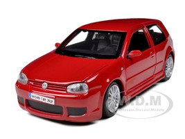 Volkswagen Golf R32 Red 1/24 Diecast Model Car Maisto 31290