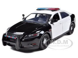 Ford Police Interceptor Concept Car Unmarked Black/White 1/24 Diecast Model Car Motormax 76925
