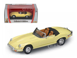 1971 Jaguar E Type Convertible Yellow 1/43 Diecast Model Car Road Signature 94244