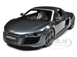 Audi R8 5.2 FSi Quattro Spyder Daytona Grey 1/18 Diecast Car Model by  Kyosho