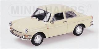 1966 Volkswagen 1600 Type 3 Notchback Cream 1/43 Diecast Model Car by Minichamps