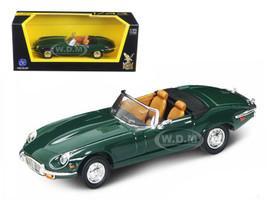 1971 Jaguar E Type Convertible Green 1/43 Diecast Model Car Road Signature 94244
