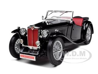 1947 MG TC Midget Black 1/18 Diecast Model Car Road Signature 92468