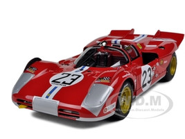 Ferrari 512 S #23 Daytona 1971 B.Adamovicz Elite Edition 1/18 Diecast Model Car Hotwheels T6930
