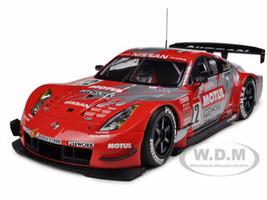 Motul Pitwork Nissan Z 2004 JGTC Team Champion Special Edition (Masami Kageyama) #22 With Driver Figure 1/18 Diecast Model Car Autoart 80486